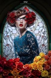 Art Work: Gonzalo Villar - Model: Kristina Yakimova - Photo of Model: Katia Nikitina