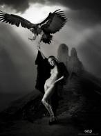 Model: Kristina Yakimova Photo model:Aleksei Borodin Art Work: Gonzalo Villar