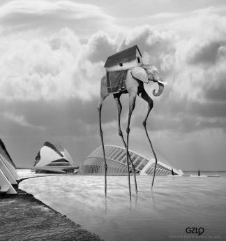 Ref: GZLo – 192. Ciudad de las Ciencias Perdidas: 32cm x 34cm - Art Work: Gonzalo Villar