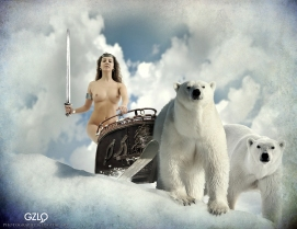 Ref: GZLo – 194. Polar Queen: 27cm x 21cm - Art Work: Gonzalo Villar - Photo model: Jose Manchado - Model: Nina