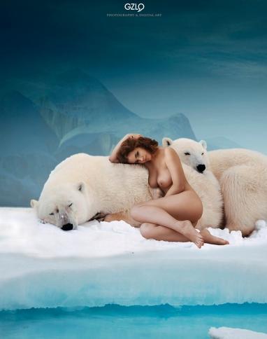 Art Work: Gonzalo Villar - Model: Lidia Savoderova - Photo of model: Oleg Zyablikov