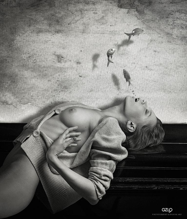 Art Work: Gonzalo Villar - Model: Chucha Babuchina - Photo of model: Andrei Samartsev