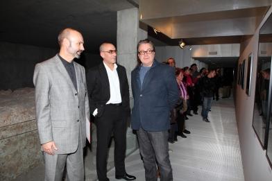Comisario Polaco, Gonzalo Villar y Joan Gregori ( Director del MuVIM, Museu Valencià de la Il.lustració i de la Modernitat )