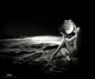 Ref: GZLo - 709. Moon - 70cm x 50cm – Art Work: Gonzalo Villar – Photo of model by Andrey Stanko