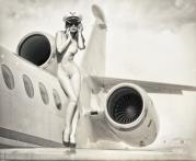 Ref: GZLo - 803. Loveairlines: 70cm x 50cm - Photo: Viktoria Ivanenko - Model: Kristina Yakimova - Art Work: Gonzalo Villar