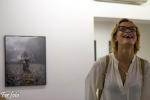 Oksana Chucha junto a mi Obra principal, donde ella es la protagonista. Photo: Fernando Martí
