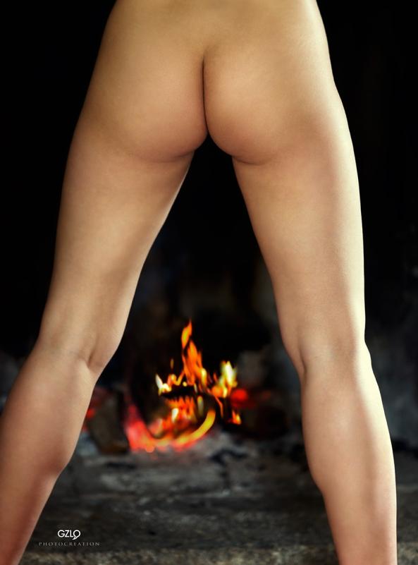 Fire between the legs